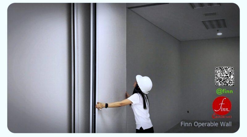 ผนังบานเลื่อนกันเสียง กั้นห้องประชุม Finn De'cor ปรับเปลื่ยนขนาดห้องประชุมได้ดังใจ